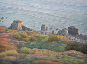 "View of the Beach from Hwy. One        48"" x  65"""